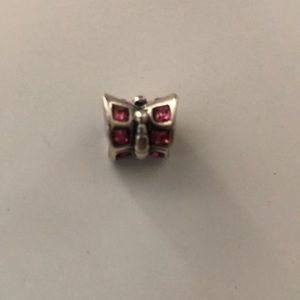 Chamilia butterfly pink bead